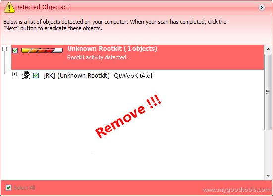 Online Scan: Analyze qtwebkit4.dll file and fix runtime errors, Fix