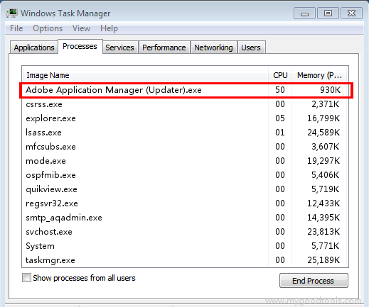 Online Scan: Analyze adobe application manager (updater) exe file