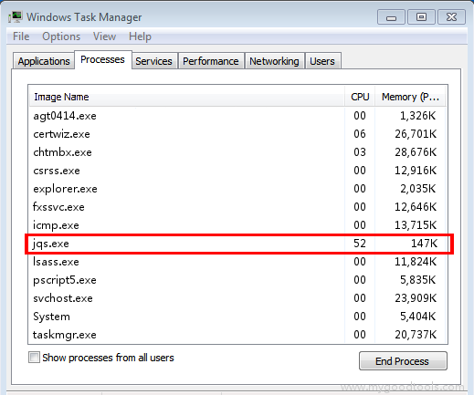 Online Scan: Analyze jqs.exe file and fix runtime errors, Fix System