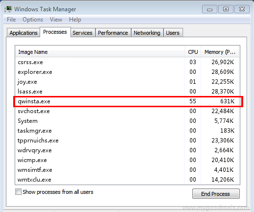 Online Scan: Analyze qwinsta.exe file and fix runtime errors, Fix