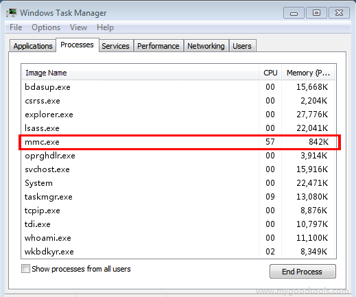 Online Scan: Analyze mmc exe file and fix runtime errors