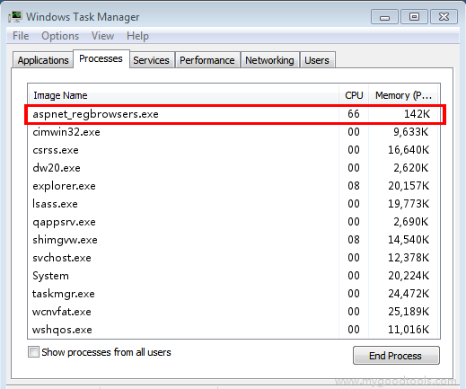 Online Scan: Analyze aspnet_regbrowsers.exe file and fix runtime