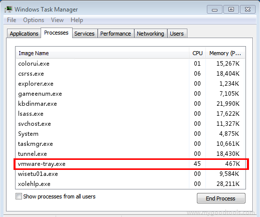 Online Scan: Analyze vmware-tray.exe file and fix runtime errors
