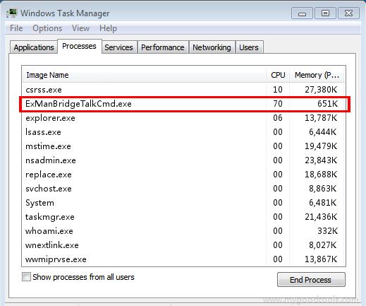 Online Scan: Analyze exmanbridgetalkcmd exe file and fix