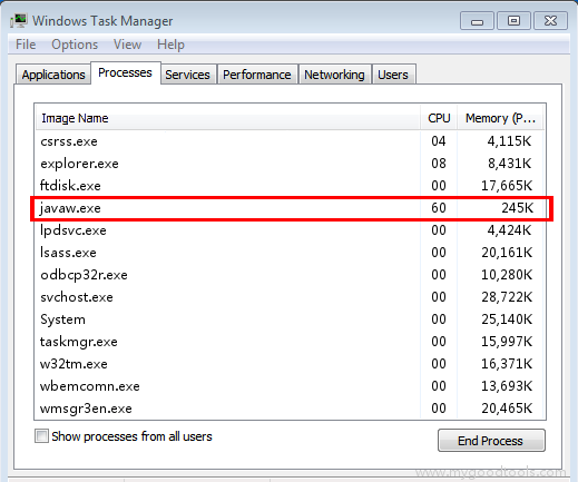 Online Scan: Analyze javaw.exe file and fix runtime errors, Fix