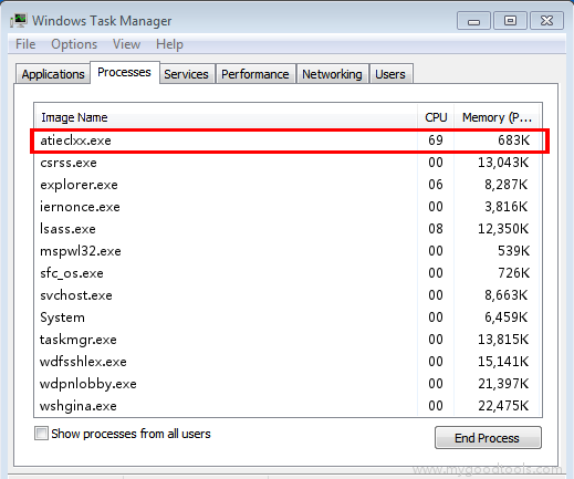 Online Scan: Analyze atieclxx.exe file and fix runtime errors, Fix